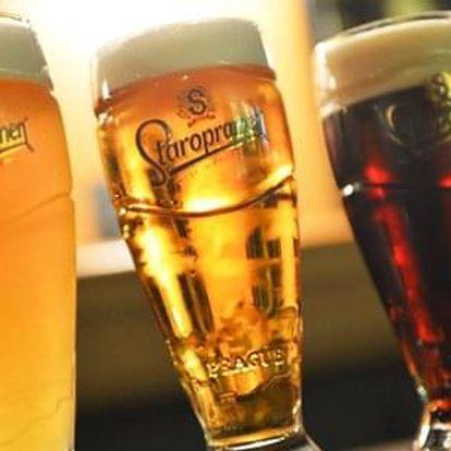 Pivní degustace nebo audiovizuální prohlídka v pivovaru Staropramen