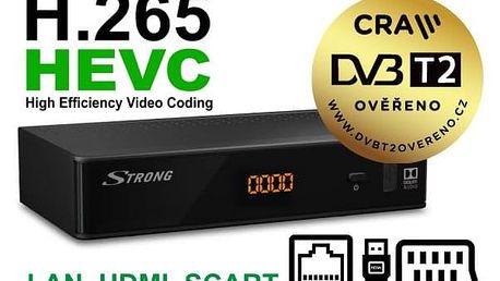 DVB-T přijímač Strong SRT8211 DVB-T2 HEVC H.265, LAN, HDMI, SCART