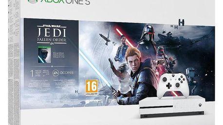 Herní konzole Microsoft Xbox One S 1 TB + STAR WARS Jedi: Fallen Order (234-01098)