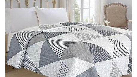 Jahu Přehoz na postel Triangl bílá, 220 x 240 cm