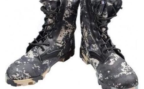 Boty vysoké maskáčové černozelené vel. 42