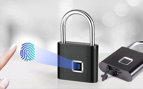 Biometrický visací zámek na otisk prstu