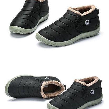 Unisex zimní kotníkové boty - Černá-velikost 35 - dodání do 2 dnů