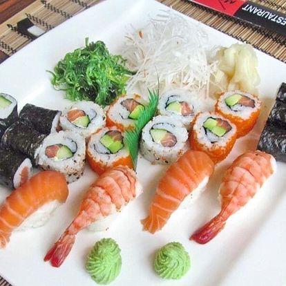 Set 24 nebo 52 ks sushi: losos, avokádo i krevety