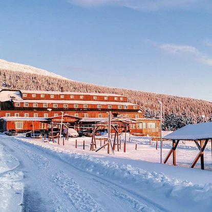 Hlavní zimní sezóna ve Špindlu s polopenzí a wellness
