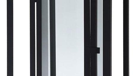 Home Styling Collection Svícen v černé barvě, kov, 51 x 22 cm
