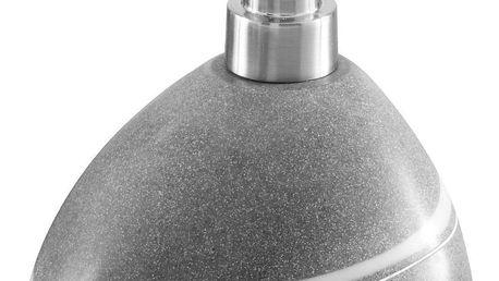 Dávkovač mýdla v šedé barvě POLY, 13x12x11 cm, ZELLER