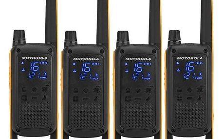 Motorola TLKR T82 Extreme Quad Pack černý/žlutý (B8P00810YDEMAQ)
