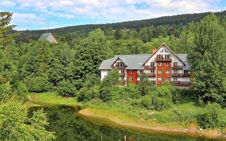 Apartmány Labská ve Špindlu pro až 4 osoby s výhledem na jezero