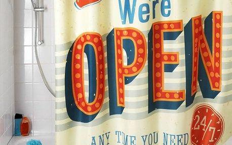 Sprchový závěs, textilní, Vintage Open, 180x200 cm, WENKO