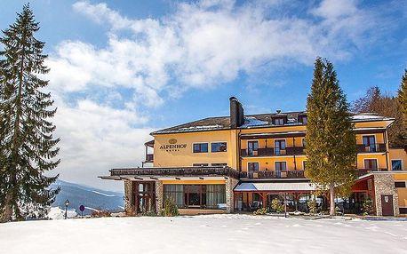 Zima v rakouských Alpách: neomezený bazén, polopenze