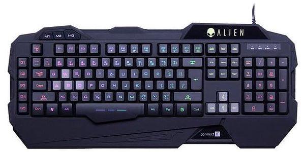 Klávesnice Connect IT ALIEN, CZ černá (CI-553)
