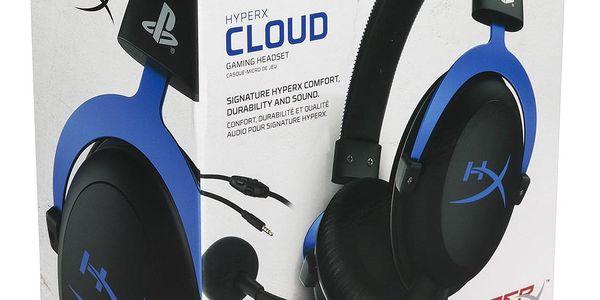 Headset HyperX Cloud Gaming pro PS4 (HX-HSCLS-BL/EM) černý/modrý + DOPRAVA ZDARMA5