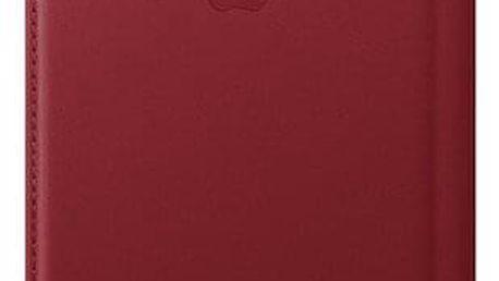 Pouzdro na mobil flipové Apple Leather Folio na iPhone Xs Max - (PRODUCT) RED (MRX32ZM/A) červené