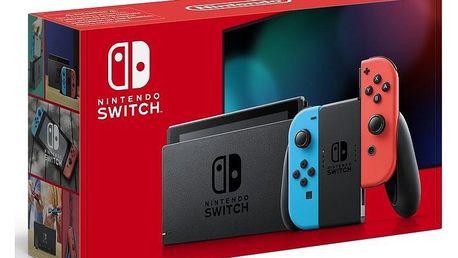 Herní konzole Nintendo Switch s Joy-Con v2 červená/modrá (NSH006)
