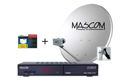 Mascom MS-2350/80MBL+M7, příjem 2 družic s kartou Skylink černý