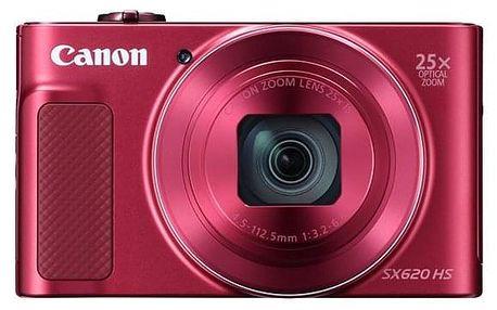 Digitální fotoaparát Canon SX620 HS (1073C002) červený + DOPRAVA ZDARMA