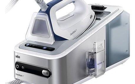 Žehlicí systém Braun CareStyle 7 IS7143WH stříbrná/bílá Žehlicí prkno Braun IB3001BK v hodnotě 2 690 Kč