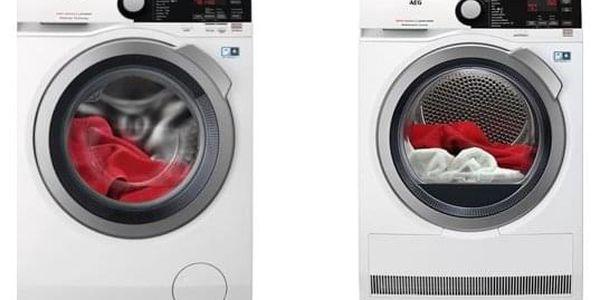 Set (Pračka AEG ProSteam® L7FBE48SC) + (Sušička prádla AEG AbsoluteCare® T8DBE68SC) + DOPRAVA ZDARMA