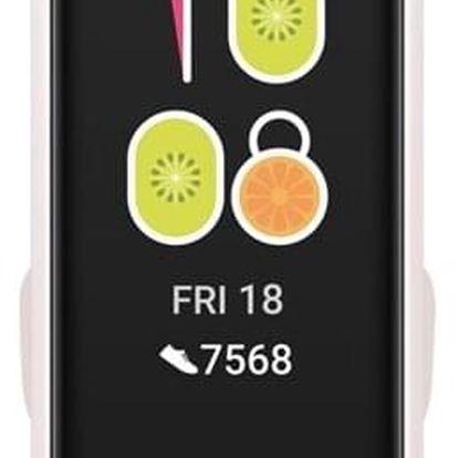 Fitness náramek Huawei Band 4 bílý/růžový (55024460)