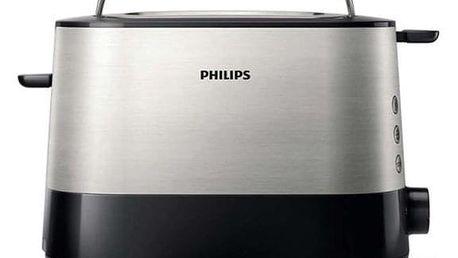Opékač topinek Philips Viva Collection HD2637/90 černý/stříbrný