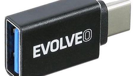 Evolveo USB/USB-C černá (ADAPTER-USB-C-USB-A)