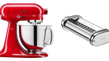 Set (Přísl. k robotům - nástavec na těstoviny KitchenAid 5KSMPRA) + (Kuchyňský robot KitchenAid Artisan 5KSM180HESD)