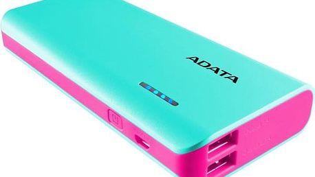 Powerbank ADATA PT100 10000mAh modrá/růžová (APT100-10000M-5V-CTBPK)