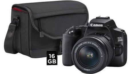 Canon EOS 250D + 18-55 + SB130 + 16GB karta černý (3454C010)