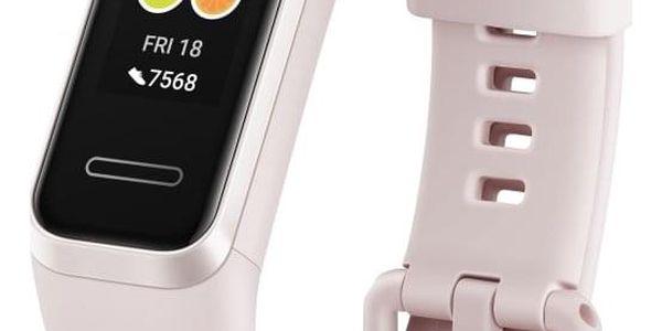 Fitness náramek Huawei Band 4 (55024460) bílý/růžový2
