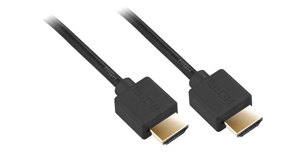 Kabel GoGEN HDMI 1.4, 10m, pozlacený, High speed, s ethernetem černý (HDMI10MMM02)