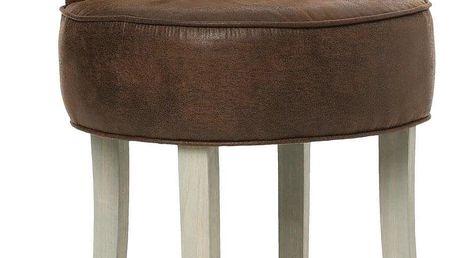 Atmosphera Créateur d'intérieur Měkká čalouněná stolička FIRMIN stolička k toaletnímu stolku - umělá kůže, hnědá barva