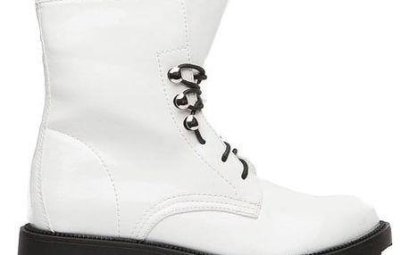 Dámské bílé kotníkové boty Litzy 104