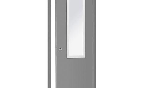 Atmosphera Créateur d'intérieur Zrcadlo na dveře, velké zrcadlo, hliníkový rám, 110X36 cm