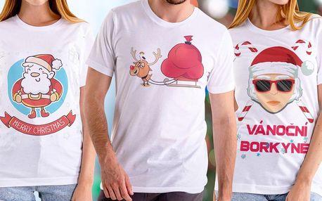 Veselá vánoční trička české výroby pro pány i dámy