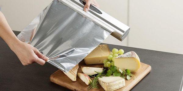 Řezačka potravinové folie, zásobník PERFECT CUTTER, barva stříbrná - WENKO3