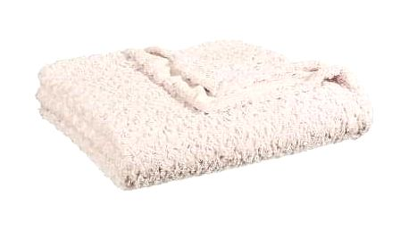 Emako Bílý heboučký přehoz na postel, který vzimě příjemně zahřeje
