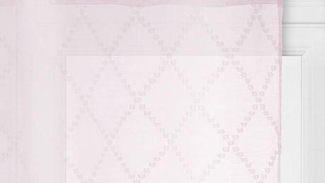 Atmosphera Okenní záclona v pastelově růžové bude skvěle vypadat v romantických interiérech - 240 x 140 cm