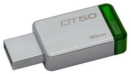 Kingston DataTraveler 50 16GB zelený/kovový (DT50/16GB)