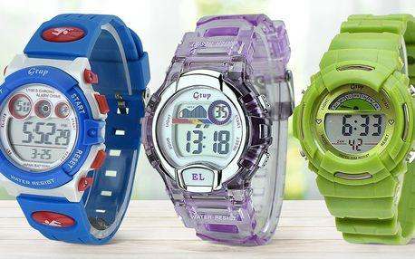 Dětské vodotěsné digitální hodinky s podsvícením
