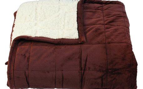 BO-MA Trading Beránková deka Sandra hnědá, 150 x 200 cm
