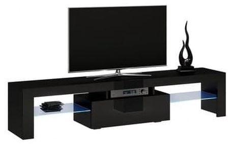 Stolek pod televizi DEKO 160 cm černý