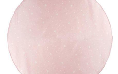 Atmosphera for kids Rohož v růžové barvě s bílými hvězdami je ideálním řešením nejen pro nejmenší děti
