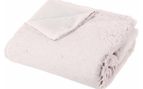 Emako Pléd na chladné dny, měkká a chlupatá deka vodstínu světle šedé, užitečný vkaždém domě