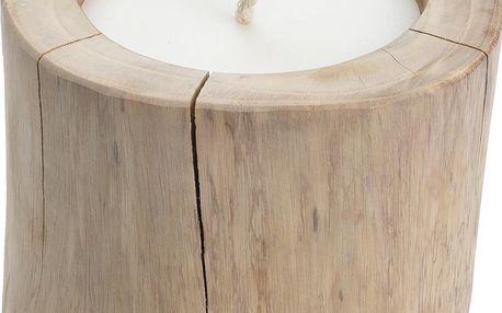 Home Styling Collection Velký svícen zteakového dřeva, se svíčkou, Ø 18 cm