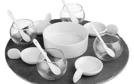 Secret de Gourmet Sada pro občerstvení, souprava dresinky, set na předkrmy - 14 dílná