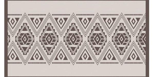 Emako Vinylový kobereček sorientálním vzorem se hodí do interiéru v etnickém stylu