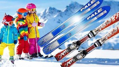 Dětské carvingové lyže s vázáním pro nejmenší či začínající lyžaře