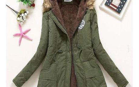 Dámská zimní bunda Jane - Vojenská zelená-velikost č. XL - dodání do 2 dnů