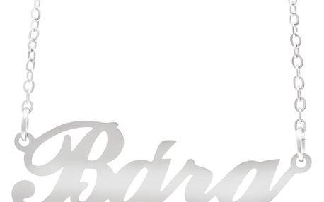 Fashion Icon Ocelový přívěsek jméno Bára